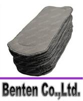 Wholesale Charcoal Bamboo Inserts layers Washable Reuseable Charcoal bamboo Inserts Baby Cloth Diaper Nappy Inserts LLFA88