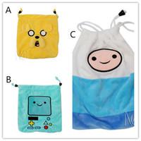 adventure bag - Adventure Time cartoon Plush Drawstring bag Finn Jake Beemo plush draw string Pouch Cute cartoon buggy bag Christmas Gift Bag