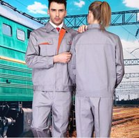 Stand Collar auto mechanical repairs - Set of coat pants cotton long sleeve work wear set mechanical uniform auto repair uniform car service clothing
