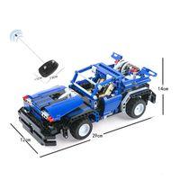 auto unions - 443pcs Remote Control Blocks Lightning Flash Auto Bricks Union Toys RC Car Outdoor Fun Kids Toys Assembly Bricks Cars Toys