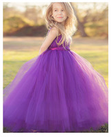 Wholesale 2016 NEW Children princess dress Pompon veil Flower girl dresses Dresses Lovely big skirt tutu Children s dresses