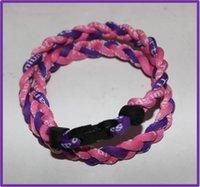 baseball amazing - 2016 fashion amazing hot selling magnetic titanium necklace for Baseball basketball braided necklace