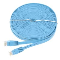 Wholesale 1M High Quality Blue High Speed Cat6 Ethernet Noolde Flat Cable Ultra Thin Design RJ45 Computer LAN Internet Network Cord