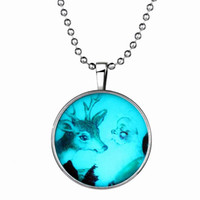 best outdoor christmas decorations - 2016 Christmas decoration Necklace deer Picture Necklaces Charm Glass Cabochon Pendant Fashion Silver Chain Christmas Jewlery Best Gifts