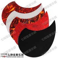 Wholesale Water drop shape inch folk guitar backplate acoustic guitar faceplate colors for choices