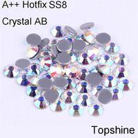 best glue for rhinestones - Similar SWA Best Quality Glass SS8 Crystal AB Germany Glue Hotfix Rhinestones For High grade Wedding Dress