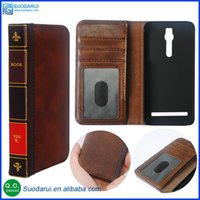 asus protector - Retro Bible Vintage Book Wallet Flip Leather Phone Cover Case For Asus Zenfone ZE551ML Business Pouch Lcd Screen protector Films
