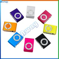 Wholesale Mini Clip MP3 Player Colorful Sport mp3 Players Come with Earphone Support Micro SD Card TF Slot Earphone USB Cable with Gift box