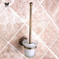 Wholesale All copper European style toilet brush high grade sanitary ware hardware