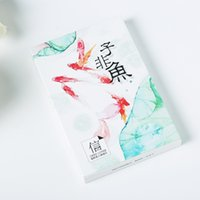 Wholesale pack Freedom Goldfish Greeting Card Postcard Birthday Gift Card Set Message Card Letter Envelope Gift Card