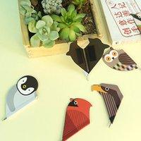 Wholesale Cute Kawaii Korean Japanese Owl Bird Paper Magnetic Bookmark With mm Ballpen Ball Point Pen Office School Supplies