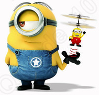 Wholesale Mini Remote Control Aircraft Toy Helicopter Flying Despicable Me Minion Gifts For Kids Cartoon Christmas Gift LJJO846