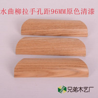 ash wood cabinets - Green wood ash drawer cabinet door handle handle MM log color handle pastoral style furniture handle
