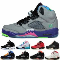basketball court sizes - 2016 Cheap Retro V Kids Basketball Shoes boys girls High Quality Sport Sneakers Children Youths Shoes Size