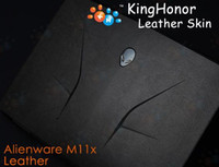 Wholesale KH Laptop Special Carbon Crocodile Snake D Crocodile Leather Cover Sticker Skin Protector For DELL Alienware M11X R1 R2 R3 version