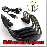 Wholesale S9 Stereo Bluetooth earphone Sports headphone Wireless ear hook Headband In Ear Earphone Hifi Music Player For iPhone6 Plus Samsung hot sale