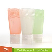 honey bottles - Owl Silicone Travel Bottles BPA Free Leak Proof Portable Refillable Cosmetic Containers with Double Sucker for Shampoo Lotion Honey ml DHL