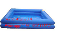 Wholesale customized double layer inflatable swimming pool for adults and kids indoor and outdoor inflatable pool for swimming fun