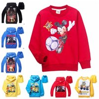Wholesale Kids Star Wars Coat Boys Minions Jacket Mickey Hoodies The Force Awakens Outwear Despicable Me Sweatshirts Mickey Mouse Jumpers New B476