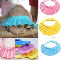 Wholesale Adjustable Safe Soft Baby Shampoo Shower Cap Baby Care Bath Protection For Baby