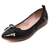 big red egg - Big Size Plaid Butterflyknot Slip On Folded Pu Egg Roll Shoes