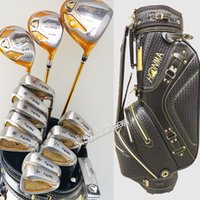 Wholesale New Golf clubs HONMA S star Complete Clubs set Golf driver fairways wood irons putter bag Graphite shaf wood headcover