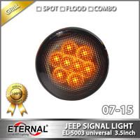 Wholesale pair x4 universal offroad Wrangler Rubicon wheel grille JK LED turn signal light amber lamp