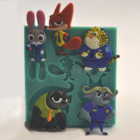animal cops - 1pcs Cartoon Zootopia Animal Flash Judy Cop Fox Nick D Silicone Soap Molds Chocolate Cupcake Fondant Cake Decor Tools patisserie reposteria