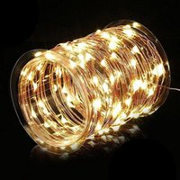 Wholesale USB string Fairy String LED Lights Indoor Outdoor Waterproof Flexible Copper Wire with USB Ft M Warm White