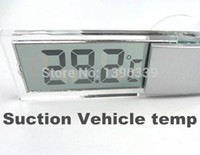 Wholesale 100pcs by DHL FEDEX Osculum Type car suction mini portable Temperature gauge temp measure digital LCD display celsius Thermometer
