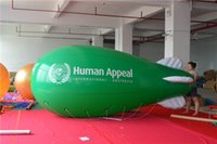airship zeppelin - Crazy Price PVC ft m Inflatable Lighted Helium Airship Blimp zeppelin with tail amp Free Repair kits