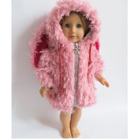 Wholesale 1pcs Doll Clothes for inch American Girl Doll Winter Coat Pink Color Cute Wear for American Girl Doll