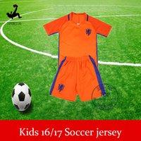Wholesale Netherlands Kids Soccer Jerseys Holland Youth Jerseys Football Shirt Soccer Uniforms kit sets Robben SNEIJDER A Quanlity