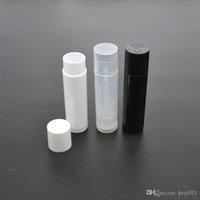 Wholesale 10pcs set g Clear Black White Empty lipstick Lip Balm Container Tube Caps D0610
