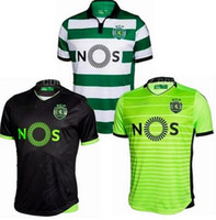 Wholesale Lisbon jersey New Sporting CP MAN jerseys Home Away White Sporting FC City Football Shirts