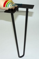 Wholesale low price black matt hairpin legs inch rods one set factory directly sell table legs
