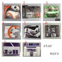 Wholesale New Design Star Wars Purse Pockets children Purse Card Holder Black Knight Darth Vader Stormtrooper Wallets PU Wallets
