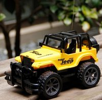Wholesale RC Jeep Drift Speed Radio SUV Remote control Off Road vehicle Steering wheel RC Jeep vehicle Car Toy Yellow RED Toys