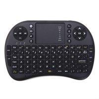 Télécommande pour tablette android Avis-Mini clavier sans fil Rii i8 2.4GHz Air souris clavier Touchpad télécommande pour Android Box TV 3D jeu Tablet PC