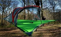 aluminum games - Tentsile Tree Tent Outdoor Camping Tents person Hanging Hammock D Oxford cloth PU painted FREE FEDEX