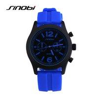 beautiful sports watch - SINOBI Simple Brand Quartz Watch High Quality Silicone Men Outdoor Sports Watches Multicolor Women Beautiful Wristwatch Clocks