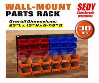 Wholesale PC Bin Wall Mounted Storage Solution Rack Nuts Bolts Organizer Small Parts