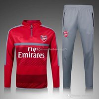 Wholesale 2016 Long Sleeve Red Arsenales Tracksuit Jogging Survetement Soccer Uniform Football Sweater Suit The Gunners Sport training Kit