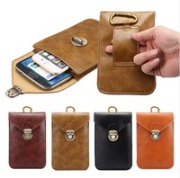 belt loop case - Universal Outdoor Sports Luxury Leather Phone Bag Hook Loop Belt Pouch Holster Case Cover For All Smart Phone quot Below XCZ23