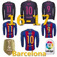 barcelona dress - 2016 Barcelona Soccer jerseys clothes top quality of the new football shirt Messi Neymar Long sleeve jersey dress