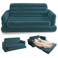 Wholesale Freies verschiffen Aufblasbare Schlafsofa Couch Intex Möbel Klima Lounge Ziehen Königin Matratze mit handpumpe