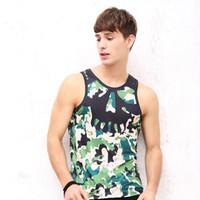 Wholesale Men Vest summer Tank Tops Underwear fashion men s vest fashion D digital printing DHL