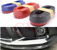 Wholesale car styling Carbon fiber Rubber Soft Black bumper Strip Car Exterior Front Bumper Lip Kit Car bumper Strip