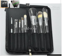 best professional makeup brushes - 2016 NEW good quality Lowest Best Selling good sale Makeup Brush Set Pouch Professional Brush