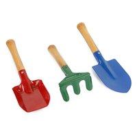 Wholesale 3Pcs Outdoor Garden Tools Set Rake Shovel Playset Kids Beach Sandbox Toy